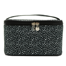 Fashionable 600D Polyester Printed Dots Portable Cosmetic Makeup Cases