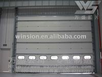 Rapid sectional door