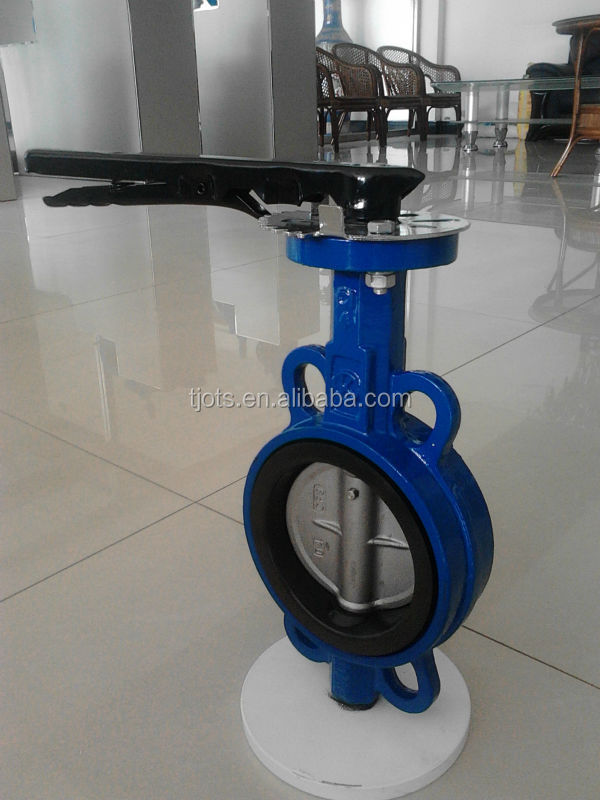 High preformance cast iron PN16 table E flange wafer type butterfly valves dn250