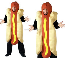 Halloween Hot Dog Mens Fancy Dress Costume Novelty Fun Stag Night Outfit BMG-2248