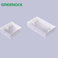 Low price durable surface mount switch box plastic electrical, plastic electrical boxes