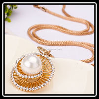 2015 Hot New Design Fashion High Quality Single Pearl Pendant Necklace Elegant Jewelry For Women