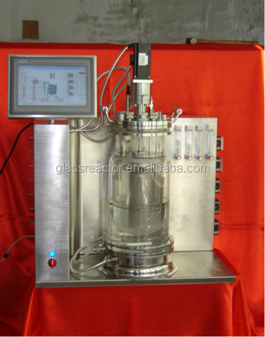 Cell Culture Fermenter/Bioreactor/bio fermenter 5L Borosilicate Glass Fermenting Reactor price