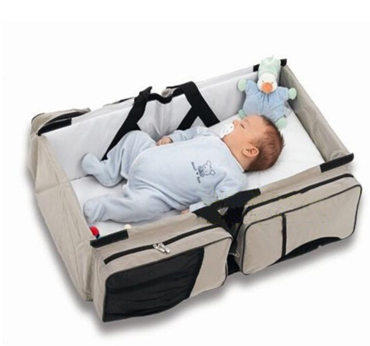 Large capability Design stylish portable folding baby bed