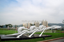 Comtemporary Stainless Steel Go Boating Sculpture Garden Decoration Urban Decoration