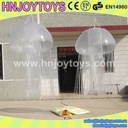 inflatable sparkling jellyfish decoration model, inflatable festival joy toys, inflatable ocean creature deco