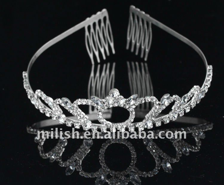Wholesale Real Diamond Pageant Crowns Tiaras MT-043