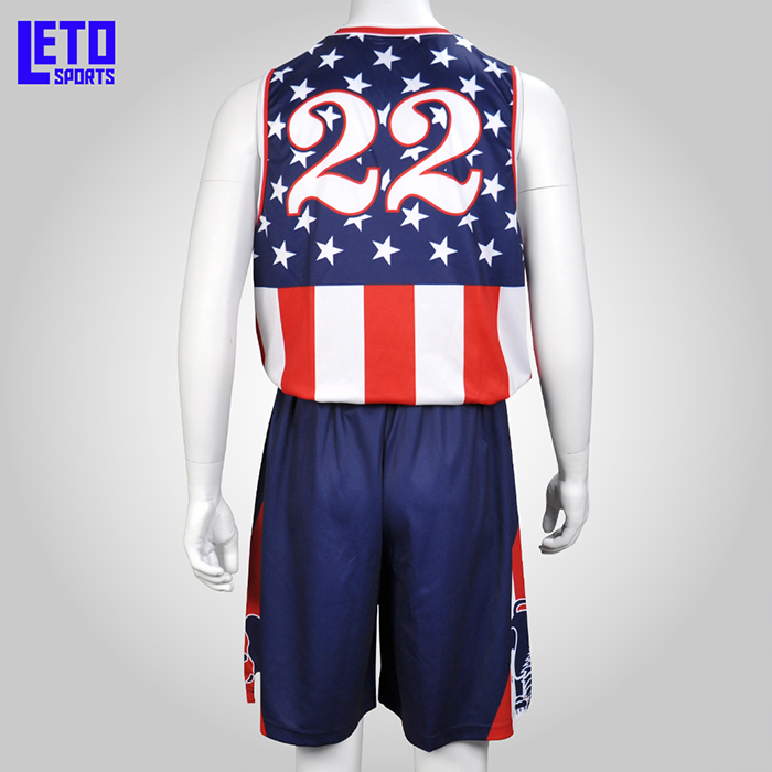 Sublimated Basketball Jersey Designs Wholesale Basketball Jersey Uniform Design Color Blue
