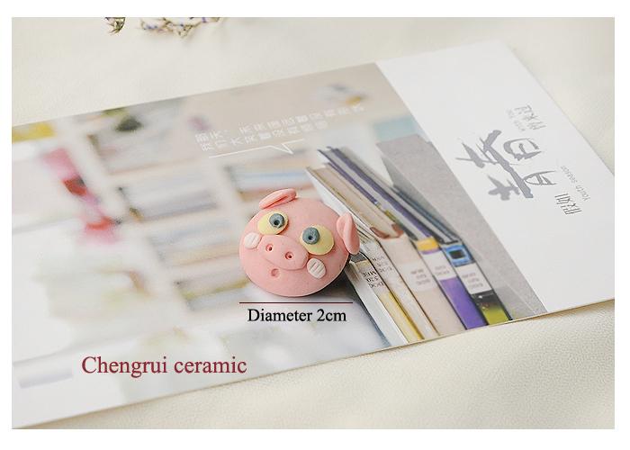 pink fashion hand kneading wholesale dress accesory porcelain animal brooch