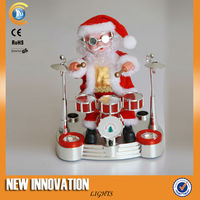 Chriatmas Craft & Gift Moving Santa Playing Musical Instrument