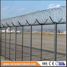 security 3D curved welded steel fence for airports