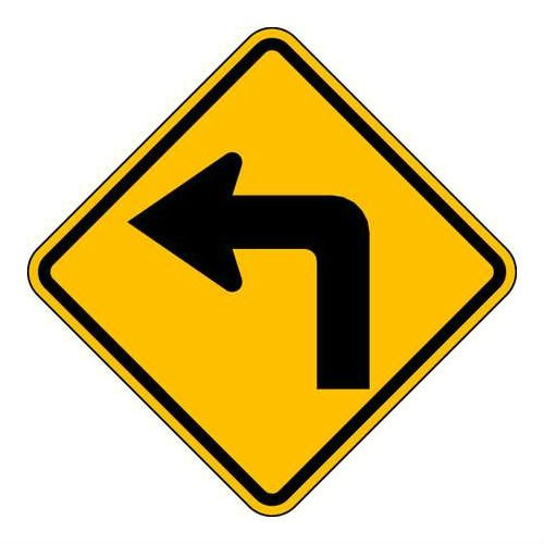Brady 115497, Traffic Sign, Engineer Grade, LEFT TURN ARROW