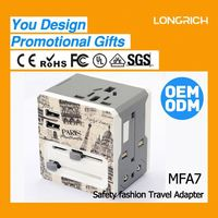 LongRich universal usb adapter eu special design 5 year old birthday gifts