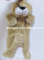 Unstuffed Squeaky JUMBO Plush Animal Lion Pet Toy Dog Toy