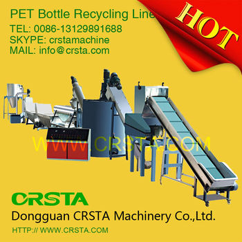 Best waste plastic bottle PET HDPE milk bottle crushing washing recycling line near Guangzhou