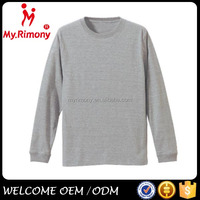 Round Neck Dry fit Bulk Mens long sleeve T shirt with competive price
