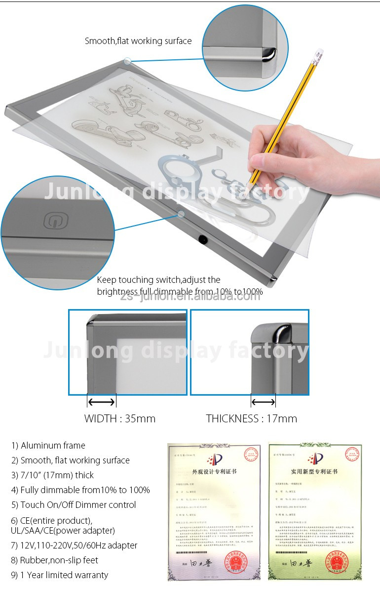 A3 Size the kids learning led <strong>tablet</strong> for drawing