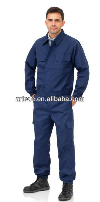men's basic blue work suit