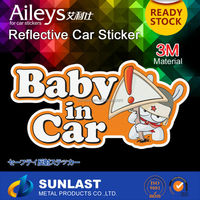 PVC Window/Car Sticker Vinyl sticker of Baby in Car FG816