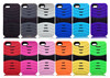 high quality stand design hybrid PC+Silicone phone case for iphone 5s