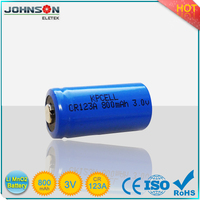CR123A Lithium Battery 1500 mAh 3V non-rechargeable lithium ion battery