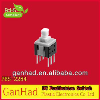Reset DC 6 pin push button switch