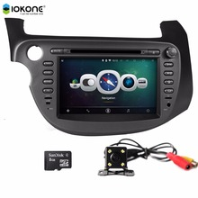 Car stereo DVD single din car radio with usb car mp3 gps navigation smultimedia system For honda New FIT 2009-2011