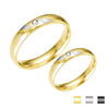 Single Stone Finger Ring Gold Wedding Ring Set Engagement Couple Ring For Women