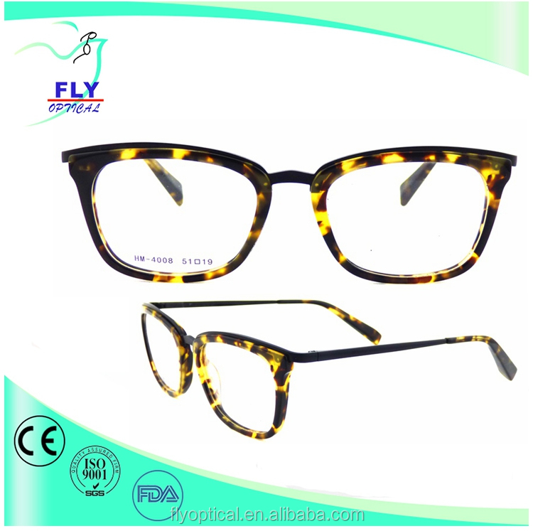 2017 latest acetate eyewear stainless temple light weight optical frame