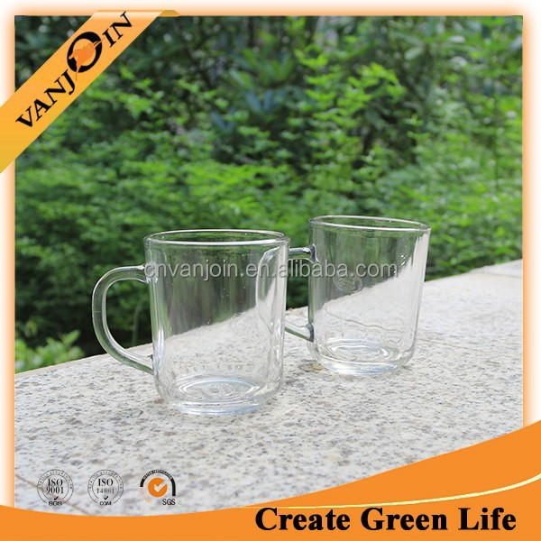 Hot Sale 200ml Glass Drinking Cup With Handle