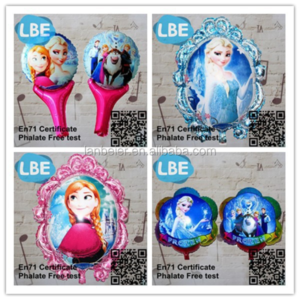 EN71 wholesale inflatable Anna crown frozen party balloons
