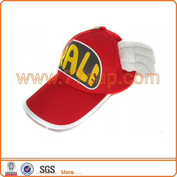 Red child cap cute angel wings cap