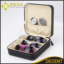 2017 New Black PU Leather Jewelry Sun Glasses Travel Case JB-117 Wholesale