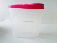 H507 transparent plastic storage container 5kg with embossed logo