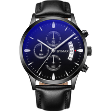 3atm Stainless steel pilot custom logo king quartz leather sport chronograph wrist quartz watch men