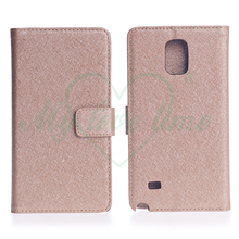 Book Style 2 Card Slots PU Leather Wallet Case for Samsung Note 4