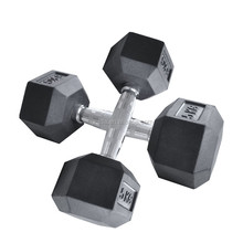 Hexagonal Rubber Coated Professional Fitness Dumbbell For Wholesale