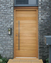 hot sale modern solid oak doors used for villa exterior