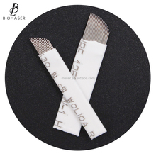 High Quality Permanent Makeup Needle Eyebrow Microblading Blades 12CF, Sterilized Embroidery Microblading Needles