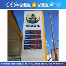 Anti-wind Outdoor LED Sign Board Price For Petrol Station
