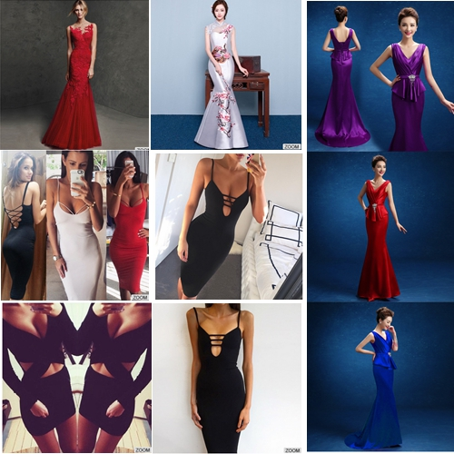 Dvacaman 2016 The wedding dress new long tail fish trade shoulder fashion bride toast presided over the evening dress