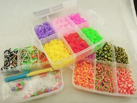 15 Colors DIY wholesale 2014 cheapest colorful crazy loom bands