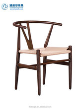 TW8064 Hans wegner metal dining chair with rattan