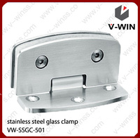 round side right angle good quality bathroom stainless steel glass hinge