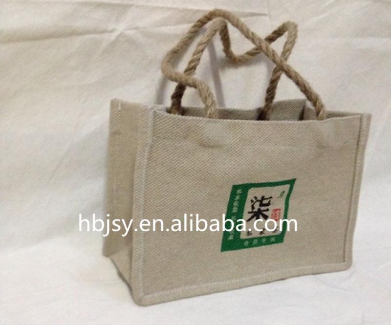 bangladesh jute fabric travel shopping bag sack tape