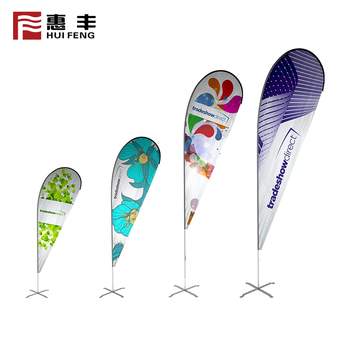 China 2018 outdoor customized teardrop beach flag banner with pole