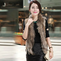 Jane Fur Ranch Raised Knit Rabbit Fur Vest