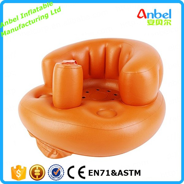 Anbel Inflatable Easy Care Floor Nursery Chair for 0-3 Years Kids, Portable Assistant Sofa Seat for Bathing and Dinning