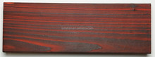 Charred cedar:long lifespan and dramatic color