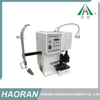Wire and cable electrical terminal crimping machine